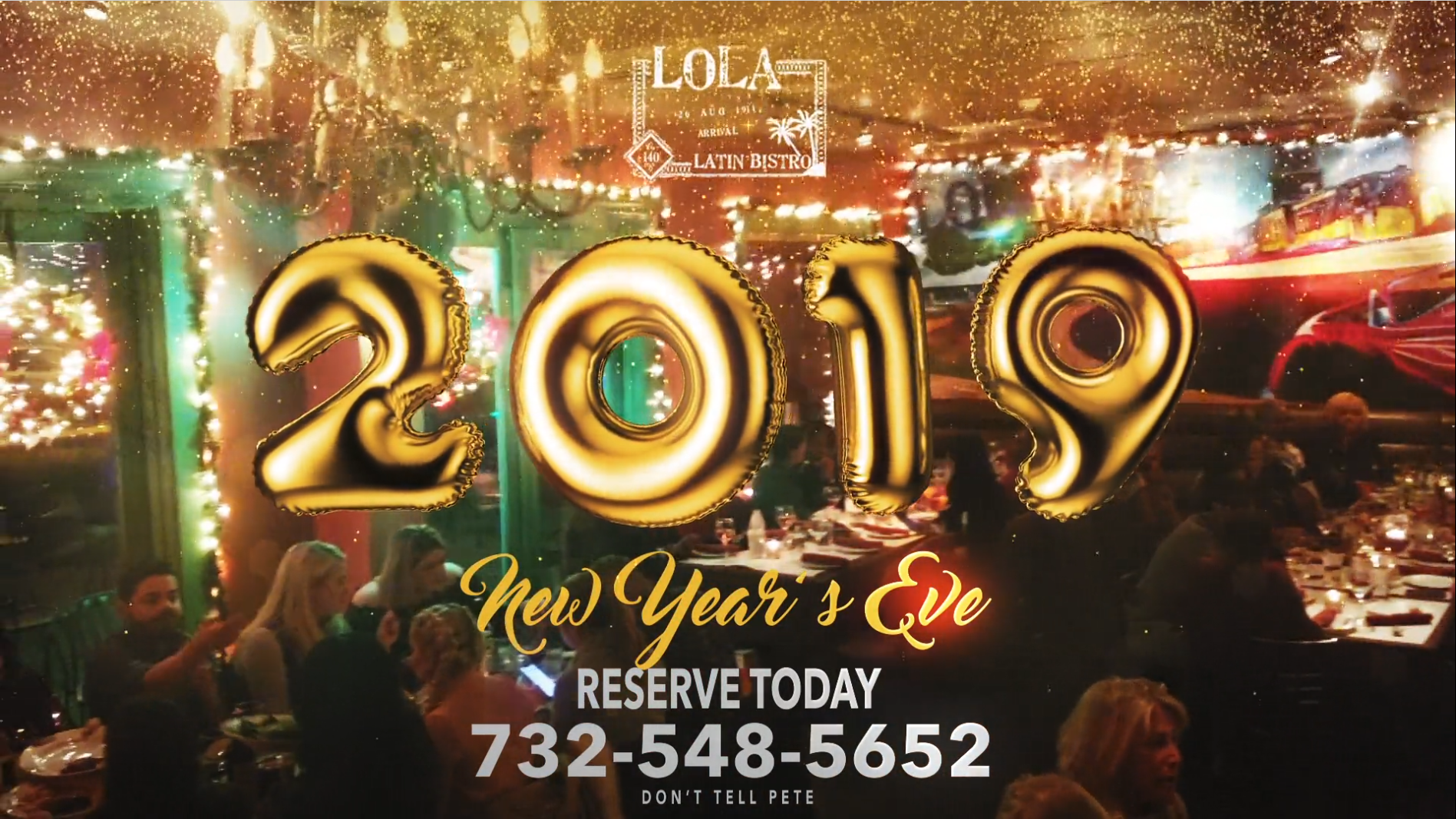 Celebrate a Happy New Year's 2019 at Lola – Reserve Today