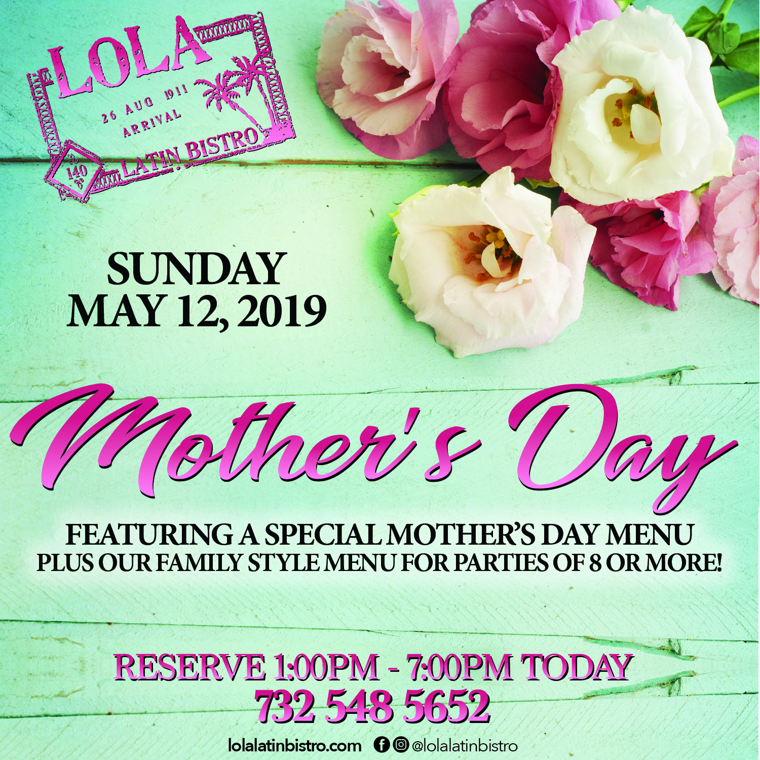 Mother's Day at Lola Latin Bistro