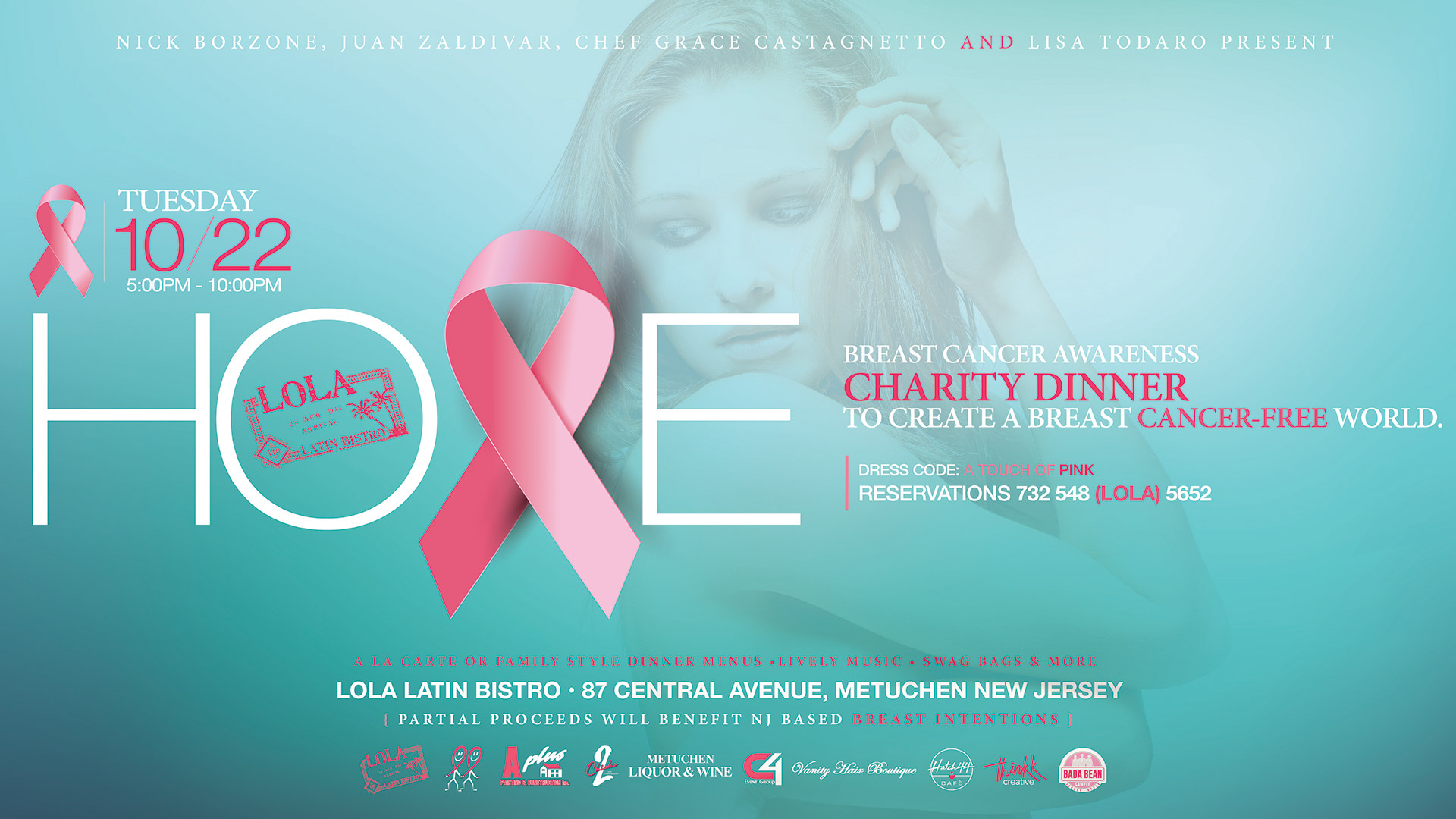 HOPE – Breast Cancer Awareness Charity Dinner – Oct 22 2019